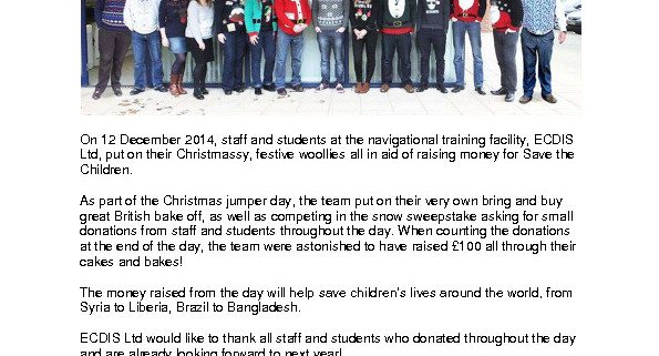thumbnail of Christmas Jumpers Raise £100 for Save the Children