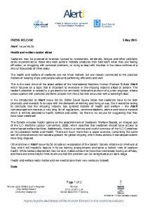 thumbnail of Press Release – Alert! Issue No. 38